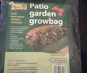 "Lot x 2 Garden Patio ReUse �16""x39""x9""�72 qts soil �woven polyethylene grow bags"