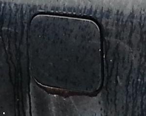88-91 Honda CRX Gas Cover Door OEM fuel cap panel hinge release hatch blue