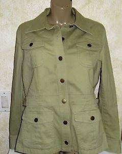 Women's Villager Light Weight Jacket Stretch Sz 10 Cotton Spandex Long Sleeve