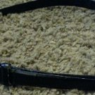 """Nine West Women's Belt Small Black with Metal Ends Leather Blend 38"""" length used"""