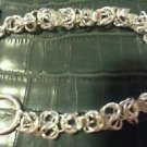 Beautiful brand new silver plated chain bracelet with T&O closure 8""