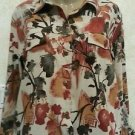 NEW!! Christopher & Banks Multi Color Button Long Sleeve Casual Blouse Size L