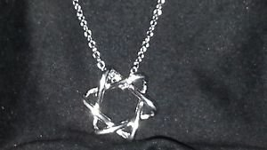 "Handmade women's necklace & star pendant 18 "" silver tone religious star"