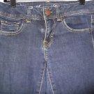 Women's Jrs. AMERICAN EAGLE Dark Wash Jeans Super Stretch Sz4 99% Cotton 1% Span