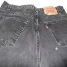 "Men's Levi 505 34"" W x 32"" L Black Regular Fit Straight Leg Jeans 100% Cotton"