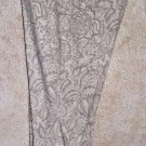 Women's Floral Print White Gray 16 Petite Pant Skinny Cotton/Rayon/Spandex NYDJ