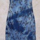 Girls Jrs. CITY TRIANGLES Sleeveless Blue Textured Dress Size M Sheer Overlay
