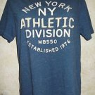 OLD NAVY Short Sleeve Graphic T Shirt S Blue Athletic Division Raised Letters