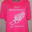 Women's hi-vis pink Special District 2013 T Shirt XS Sport-Tek EAGLE CREST Polyl