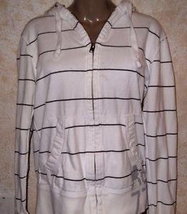 American Eagle Hooded Rugby Zip Sweatshirt 100% Cotton S Multi Color Stripe