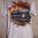 White Short Sleeve CHEVY POWERED Graphic T Shirt Muscle Car Camaro M 100% Cotton