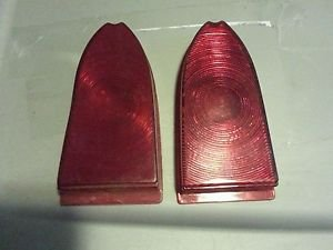 1955-1958 Chevrolet Cameo Pickup Truck Tail Light Lens Pair Chevy GMC Cameo