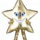 A Twinkling Golden Star Mascot SpotSound Canada With Blue Eyes And Eyelashes