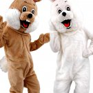 Brown And White Rabbit Mascot SpotSound Canada Couple With Woolly Cheeks