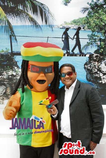 Rastafarian Jamaican Reggae Human Mascot SpotSound Canada With Dreadlocks