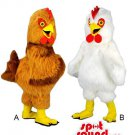 Chicken Or Hen Animal Farm Plush Couple Mascot SpotSound Canada In White