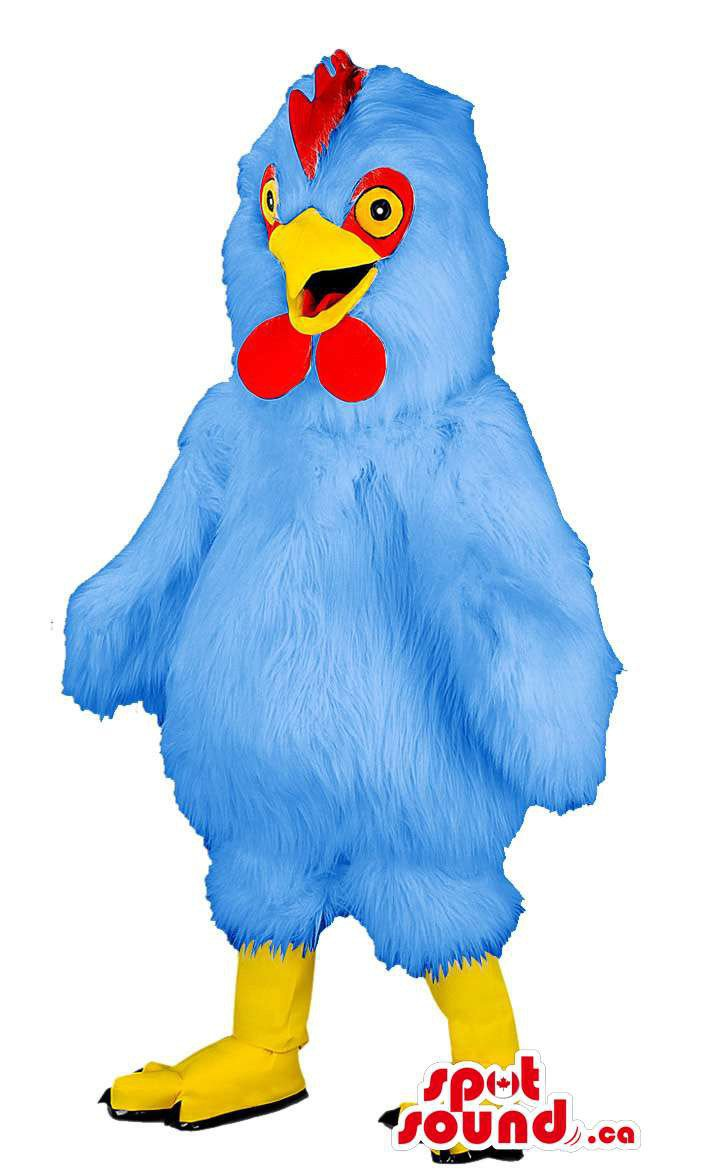 Customised Blue Chicken Or Hen Animal Farm Plush Mascot SpotSound Canada