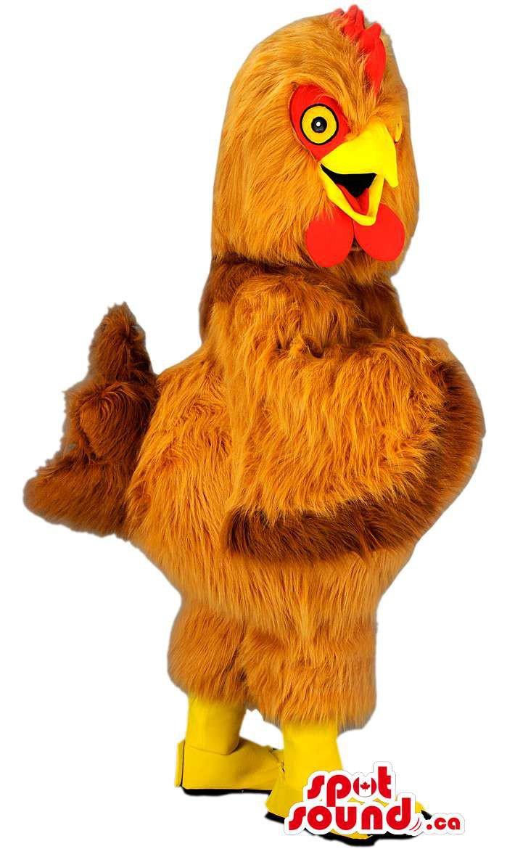 Customised Brown Striped Chicken Or Hen Animal Farm Plush Mascot SpotSound Canada