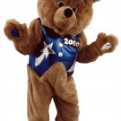 Brown Teddy Bear With Blue Vest And Hat With Stars And Moons