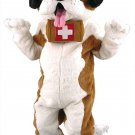 Saint Bernard Dog Mascot SpotSound Canada With Barrel And Tongue