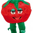 Red Tomato Vegetable Mascot SpotSound Canada With Peculiar Eyes And Tongue