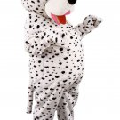 Dalmatian Pet Mascot SpotSound Canada With Black Spots And Red Tongue