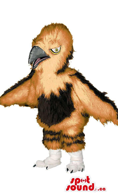 Bird Wildlife Mascot SpotSound Canada With Beak And Wings In Brown Tones