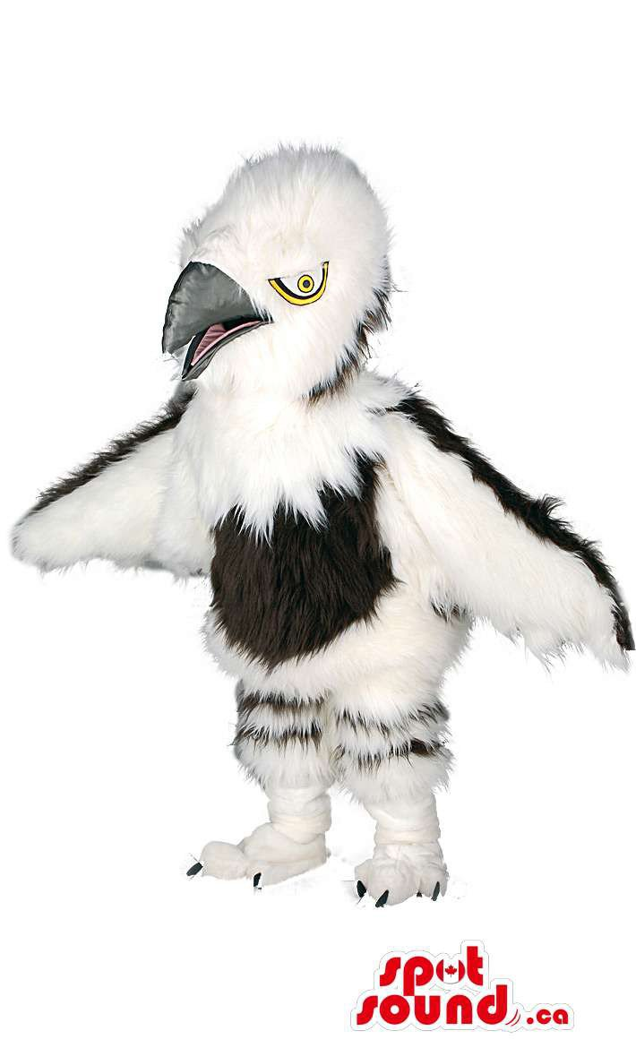 White And Black Bird Wildlife Mascot SpotSound Canada With Beak And Wings