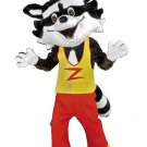 Skunk Animal Mascot SpotSound Canada With Yellow And Red Outfit With Letter