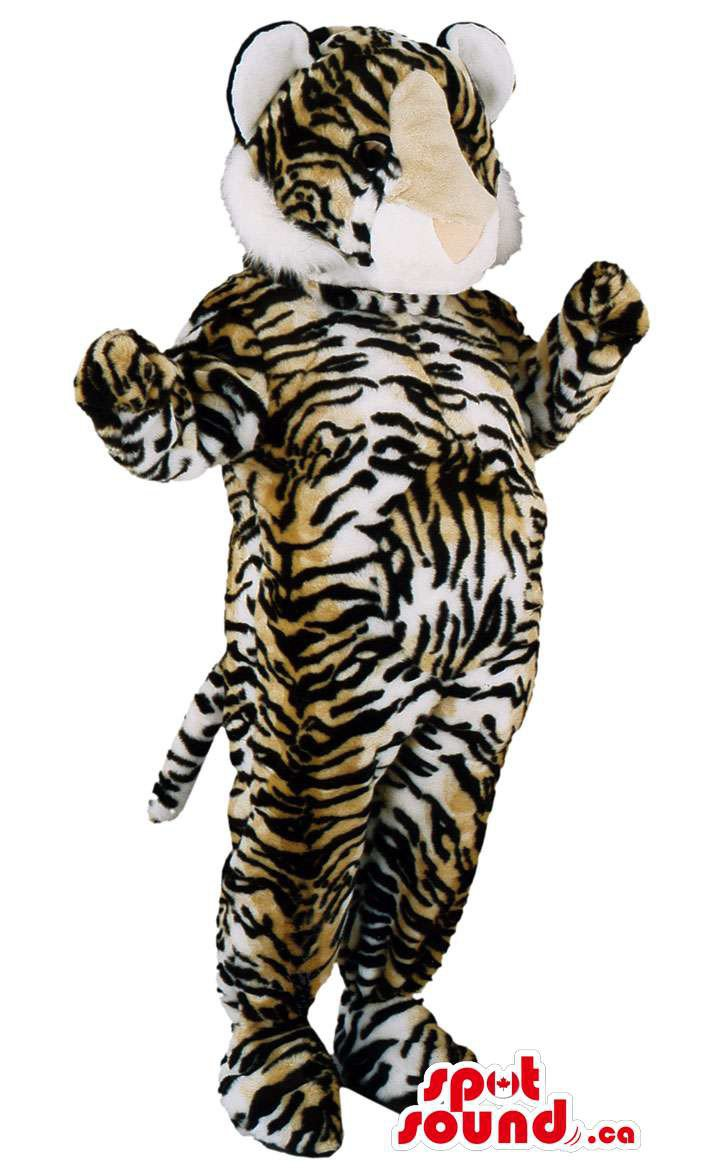 Tiger Animal Wildlife Mascot SpotSound Canada With Brown And Black Stripes