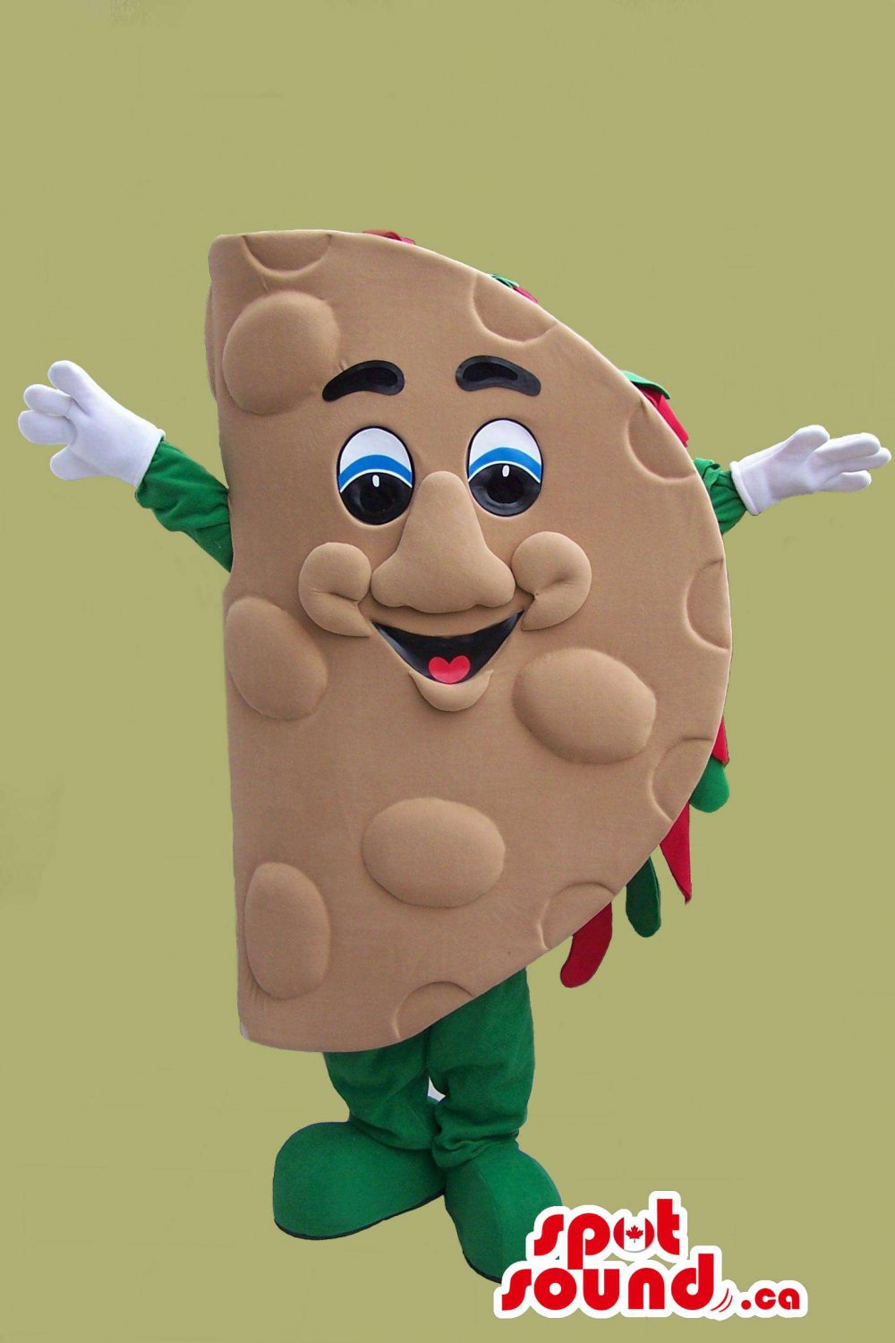 Taco Mexican Food Mascot SpotSound Canada With Large Eyes And Nice Smile