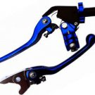 Suzuki Kawasaki ATV Lever Set Clutch Brake BLUE Quadracer LTR450 LTZ400 KFX400