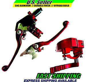 Yamaha ATV Throttle & Lever Set Clutch Brake RED YFZ450 2007 thru 2015