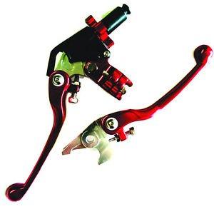 Yamaha ATV Lever Set Clutch Brake RED YFZ450 2007-12 Raptor YFM700 2007-12