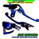 Lever & Thumb Throttle Set Brake Clutch Blue YAMAHA YFZ450 2007-2014