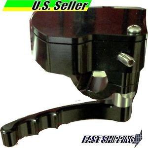 ATV THUMB THROTTLE CNC AL BLACK SUZUKI  LT500R LT250 LT80 MOST SCREW TYPE CABLE