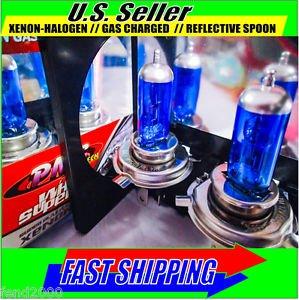 SUPERWHITE Motorcycle H4 Xenon Light Bulb Set 55w 60w HONDA YAMAHA SUZUKI KAWASA