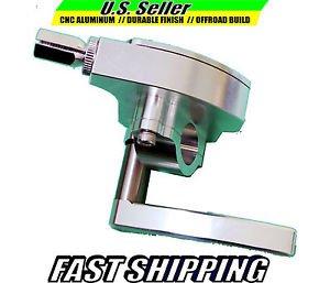 ATV THUMB THROTTLE CNC ALUMINUM SILVER SUZUKI  LT500R LT250 LT80