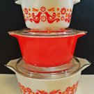Pyrex Friendship Round Casserole Dish Set