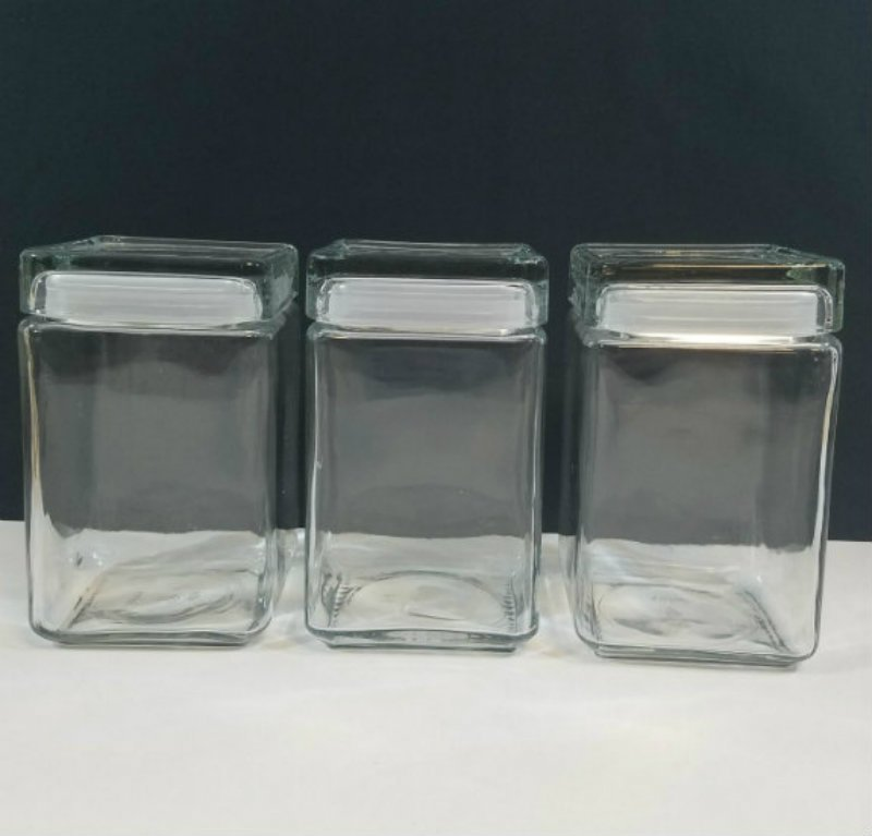 Anchor Glass Canister Set