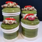 Vintage Japan Garden Harvest Canister Set