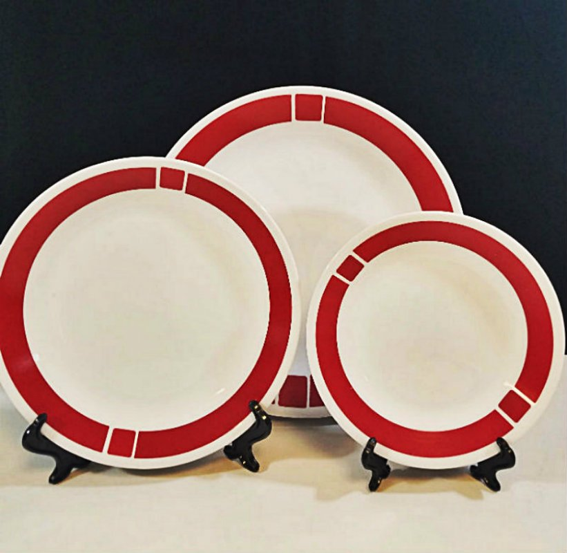 Corelle Urban Red Dinnerware 4 Pcs Set