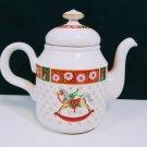 Charlton Hall Kobe Classic Traditions Japan Christmas Teapot.