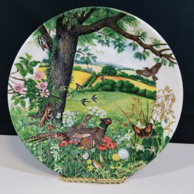 Wedgewood Meadows and Wheatfields Collector Plate #5343A
