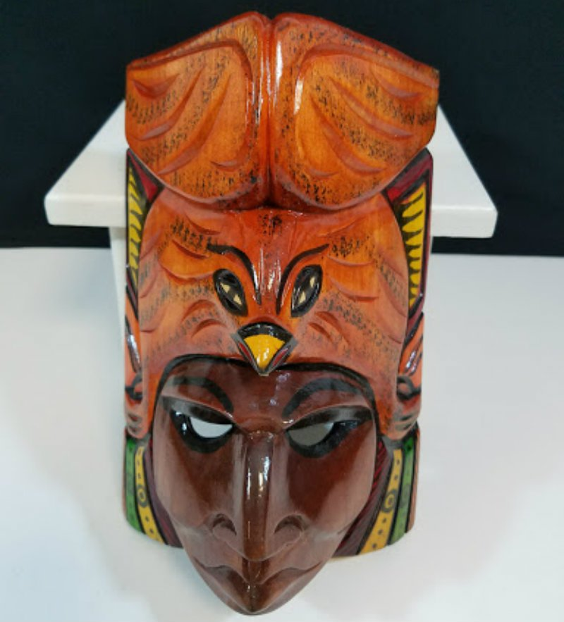 Wooden Mask Mayan Culture Collector Piece CM1