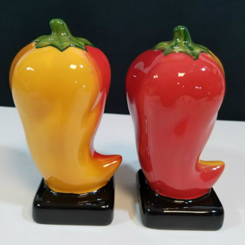 Clay Art Chili Peppers Salt and Pepper Shaker