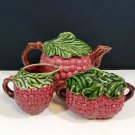 Jay Willfred Div of Andrea Sadek Red Grape Teapot Set