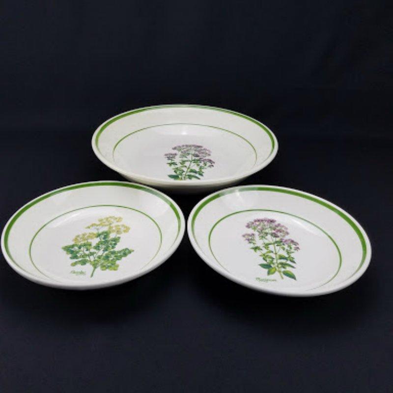 Certified International Italian Pottery Herb Garden Bowl Set of 3.