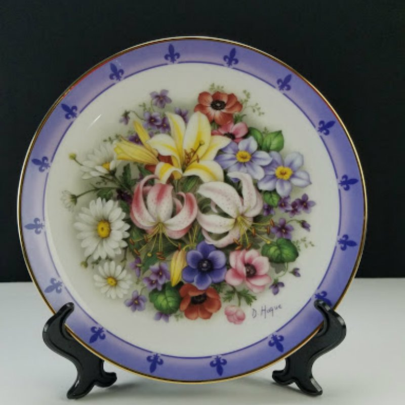 Danbury Mint Bouquets of The World Flowers of France Doug Hague Collector Plate