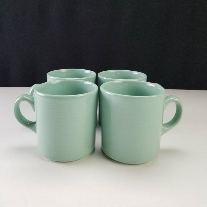 Lynns Stoneware Teal Mugs Set of 4